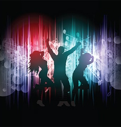 Party people on music notes background 2403 vector