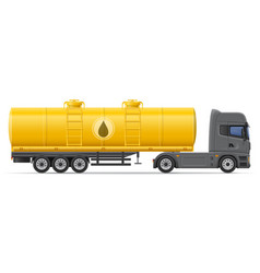 Truck semi trailer 08 vector