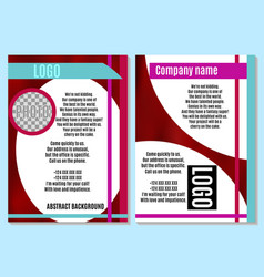 abstract brochure on red with white bright vector image vector image