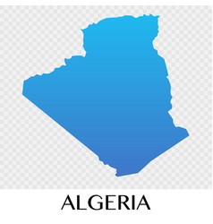 Algerai map in africa continent vector