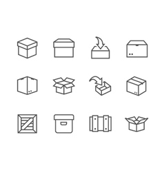 Box and crates icons vector