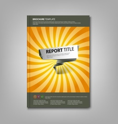 Brochures book or flyer with abstract pointer vector image vector image