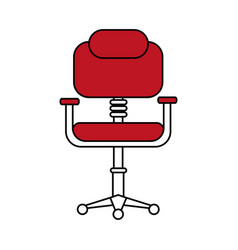 Chair office flat vector