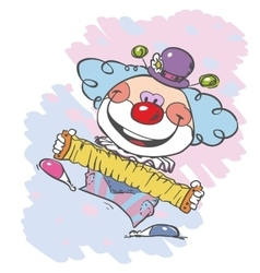 Circus clown artist vector