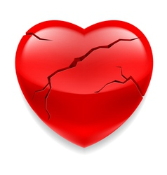 Cracked heart vector image
