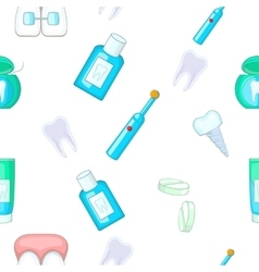 Dental treatment pattern cartoon style vector