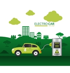 Electric Car Print vector image