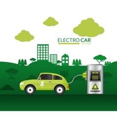 Electric car print vector