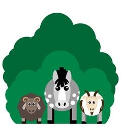 farm animals Horse sheep goat vector image