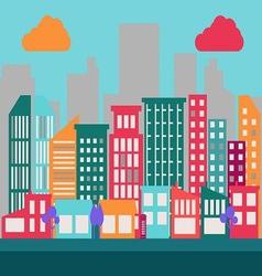 Flat city scene 1 vector