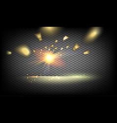 golden confetti falls vector image vector image