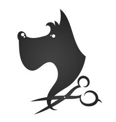 Hairdresser for dogs vector