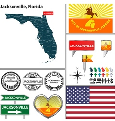 Jacksonville florida set vector