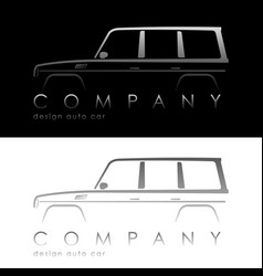 Modern auto company logo vector