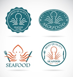 Octopus seafood vector image vector image