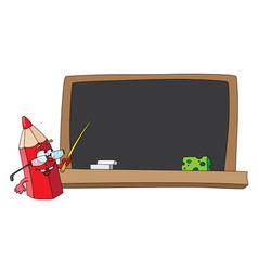 school pencil and blackboard vector image vector image