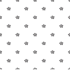 Simple flower pattern vector image