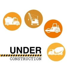 site under construction tools vector image