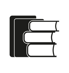 stack of books sign black vector image