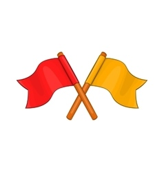 Two crossed flags icon cartoon style vector image vector image