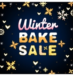 Winter Bake Sale 01 A vector image vector image