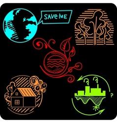 ECO - Green Life - set vector image