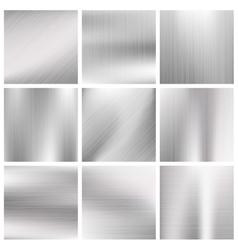 Silver steel titanium aluminium metal vector
