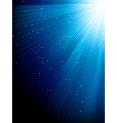 Stars on blue striped background eps 8 vector