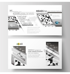 Business templates in hd size for presentation vector
