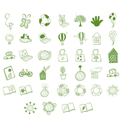 Different eco-friendly objects vector