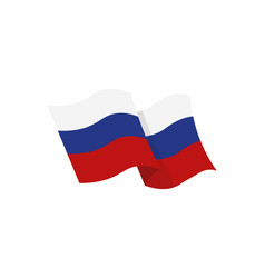 National flag of the russian federation vector