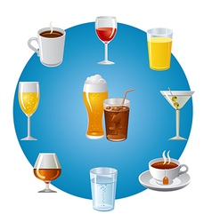 drinks icon set vector image