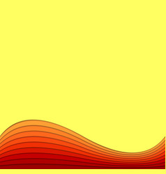 Background template from layer stripes in hot vector