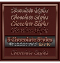Set of chocolate graphic styles for design vector
