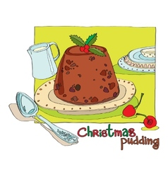Christmas pudding vector image
