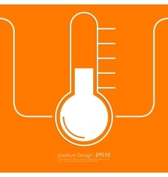 Stock Linear icon thermometer vector image