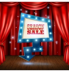 Season sale light banner vector