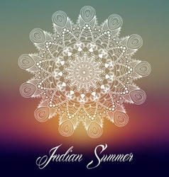Mandala indian summer design vector