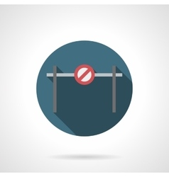 Forbidden barrier round flat icon vector