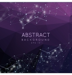 Abstract 3d polygonal background Low poly vector image vector image
