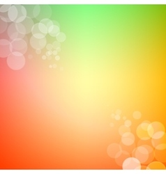 Abstract bokeh sparkles on spring themed blurred vector image