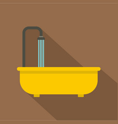 Bathroom icon flat style vector