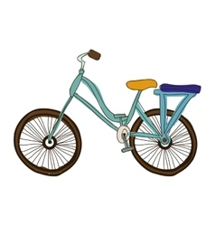 Bike or bicycle cartoon icon image vector