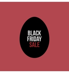 Black Friday Sale Text on Egg Label vector image