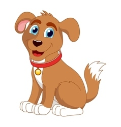 Cartoon smiling puppy of cute vector image vector image