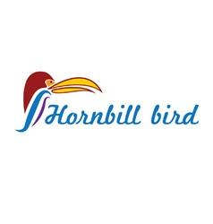 Catoon hornbill bird vector