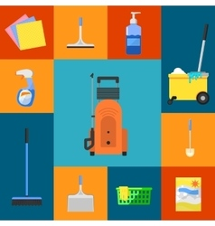 Cleaning icons set vector image vector image