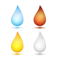 Colored Drops vector image