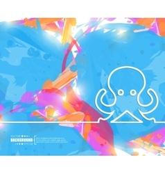 Creative octopus art template vector