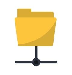 Data server folder security system technology vector